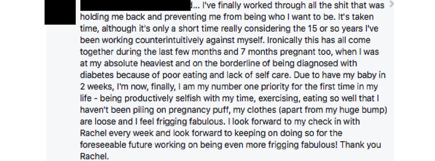 Testimonials from clients of Rachel Foy who have learnt to stop emotional eating, binge eating and wanting to work with a diet coach